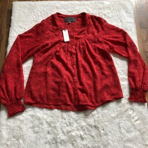 Anthropologie NWT Sunday in Brooklyn textured top size XS